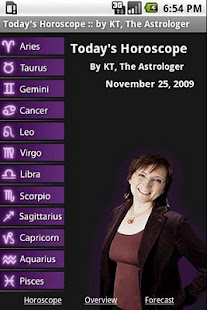 Today's Horoscope by KT - screenshot thumbnail
