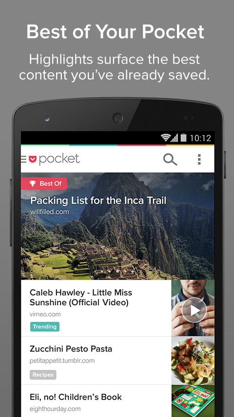 Pocket - screenshot