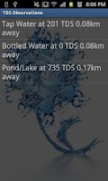 Screenshot of TDS Water Quality Crowdsource
