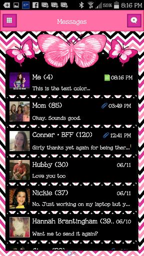 GO SMS - Butterflies 4