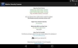Screenshot of Bluebox Security Scanner