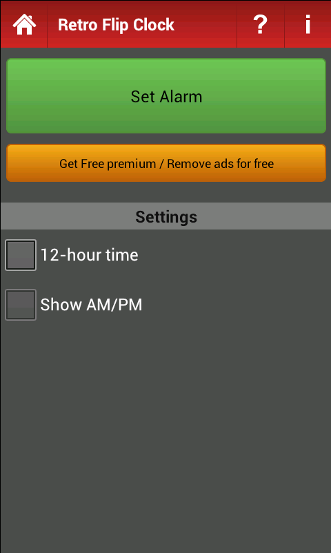 Retro Flip Clock- screenshot