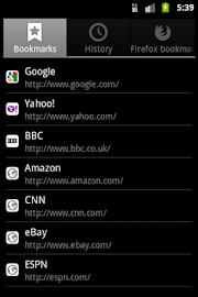 Zirco Browser Screenshot 5