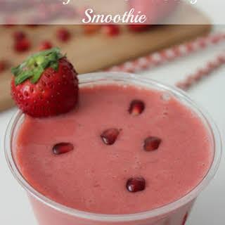 Pomegranate Strawberry Smoothie.