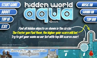 Screenshot of FREE Hidden World Aqua