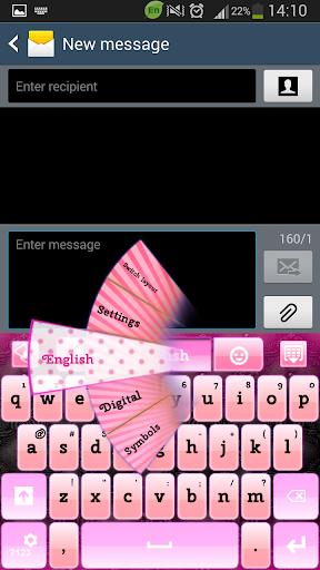 GO键盘黑色和粉红色