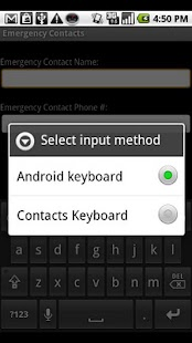 Contacts Keyboard - screenshot thumbnail
