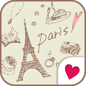 Cute wallpaper★milky paris icon