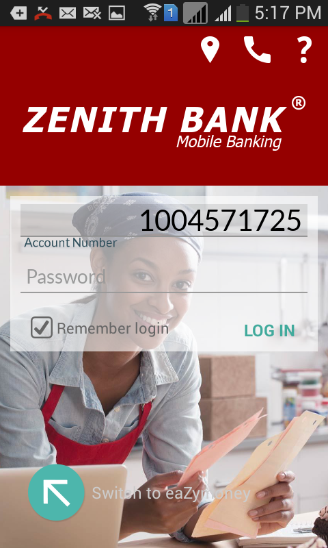 Zenith Bank Mobile App- screenshot