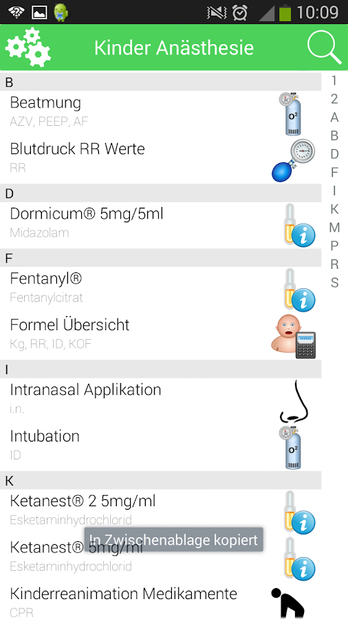 Kinder Anästhesie XS – Screenshot
