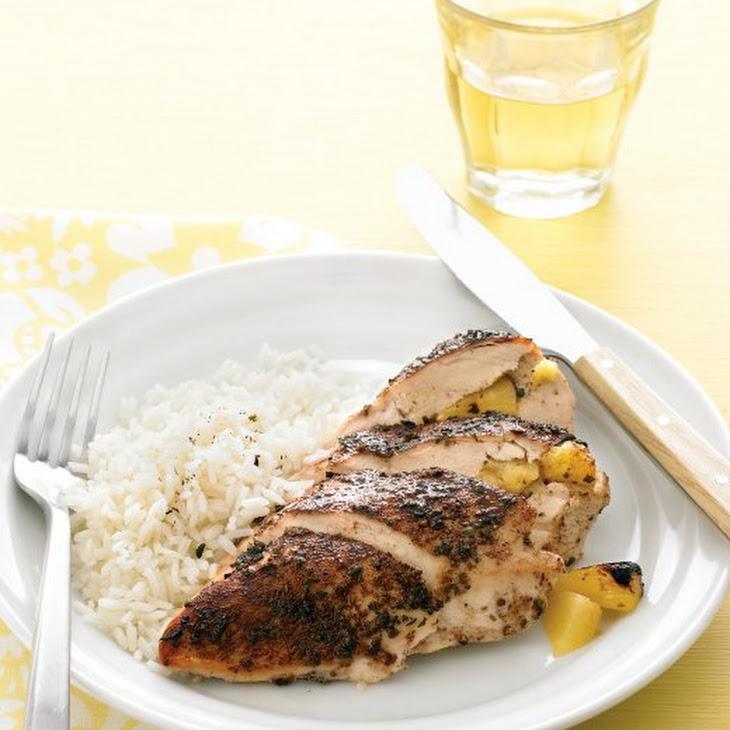 Pineapple-Stuffed Jerk Chicken Recipe