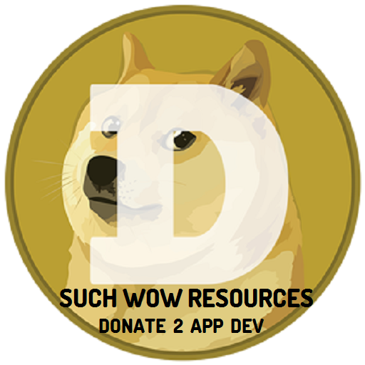Dogecoin - WOW SUCH Resources LOGO-APP點子