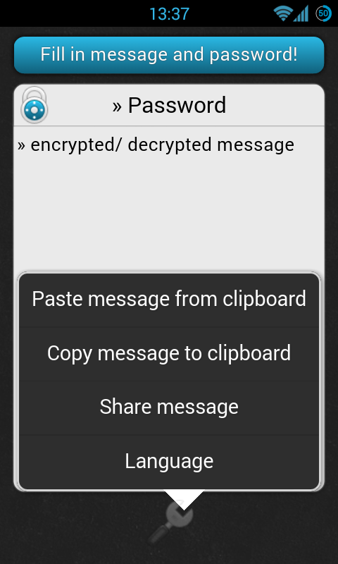 Encryption (Krypto)- screenshot