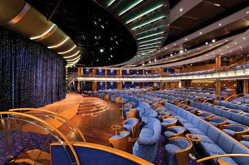 Regent-Seven-Seas-Voyager-Theater - Spend your evening enjoying a rousing cabaret show in the Constellation Theater when you sail on Seven Seas Voyager.