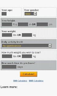 Weight Loss Calculator- screenshot thumbnail