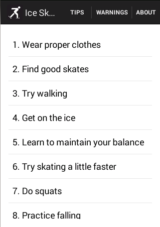 Ice Skating Tips
