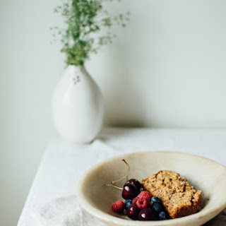 A Summer Squash + Banana-oat Loaf W/ Almond Streusel (gluten +dairy Free)