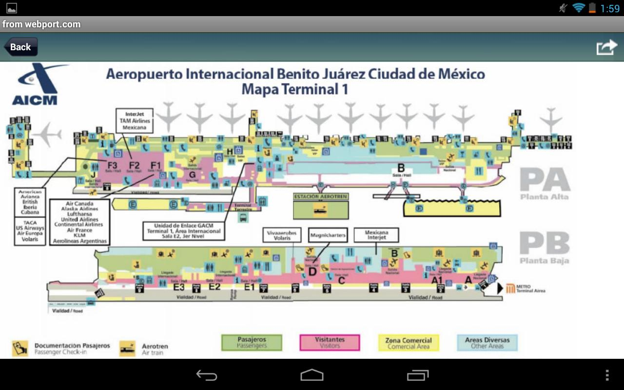 Mexico city airport mxp flight tracker android apps on for Puerta 6 aeropuerto ciudad mexico