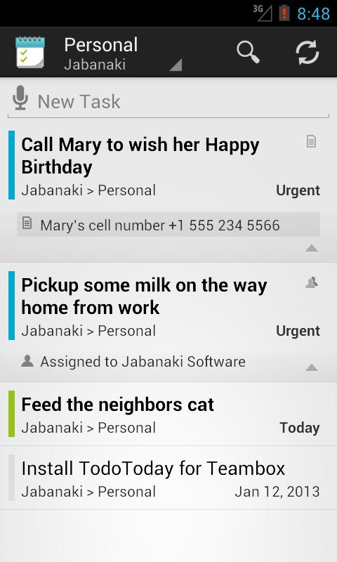 TodoToday Pro for Teambox - screenshot