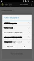 Screenshot of Werkuren