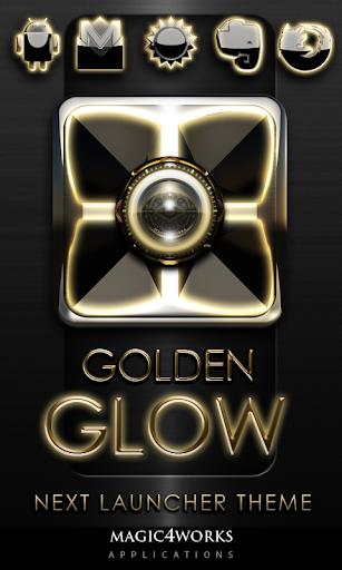 Next Launcher Theme Gold Glow