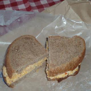Green Olive Pimento Cheese Sandwich.