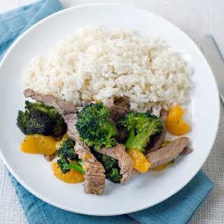 Gluten Free Orange Beef & Broccoli.