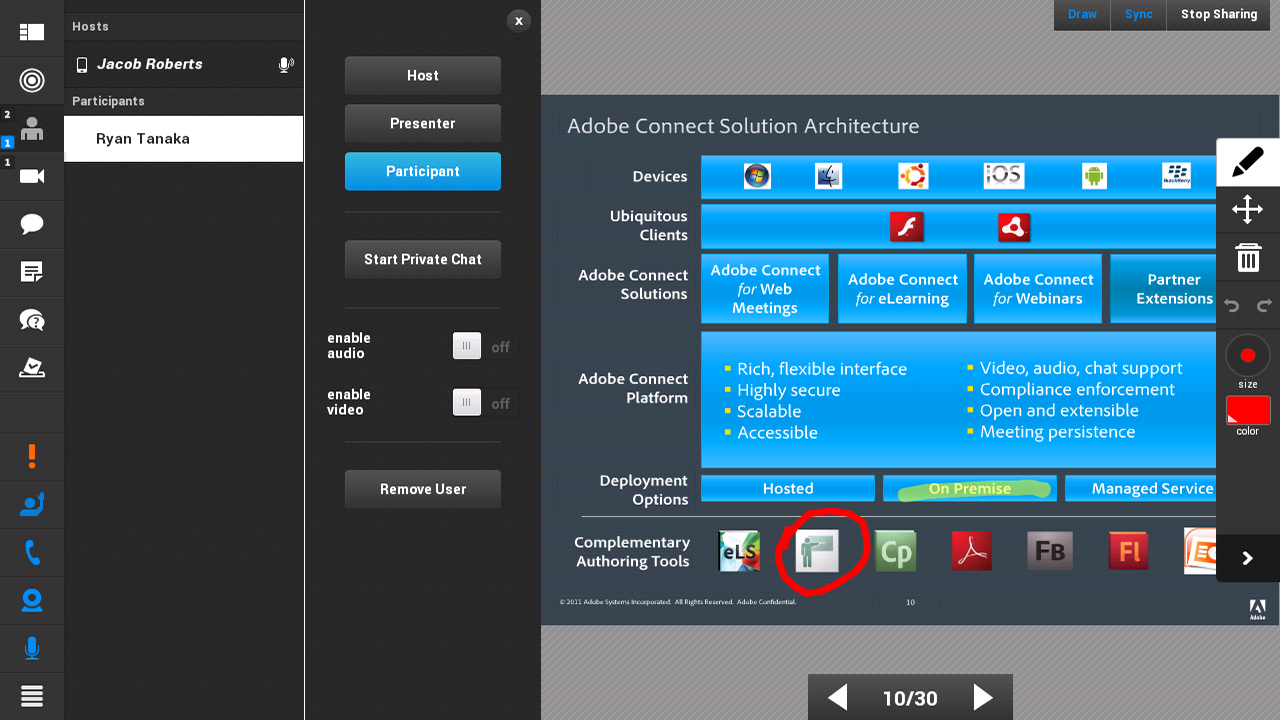 Adobe Connect - screenshot