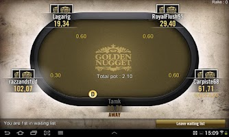 Screenshot of Golden Nugget Poker