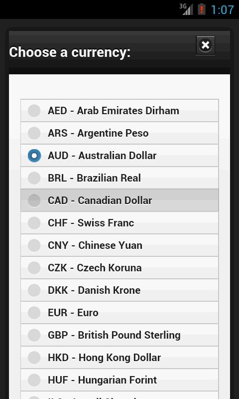 Currency Converter Calculator- screenshot