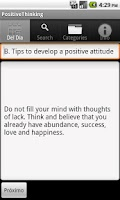 Screenshot of Positive Thinking. The Key to