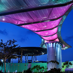 Changi City Point at Expo MRT Singapore by William Cho - Buildings & Architecture Architectural Detail ( shopping mall, lights, canopy, facade, colors, changi city point, expo mrt, architecture, singapore, entertainment, retail )