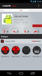 Runtastic Squats PRO Trainer - screenshot thumbnail