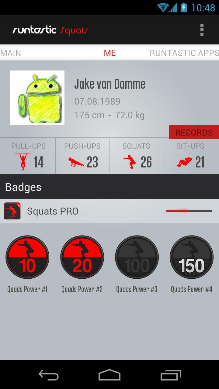 Runtastic Squats Workout PRO Screenshot 3