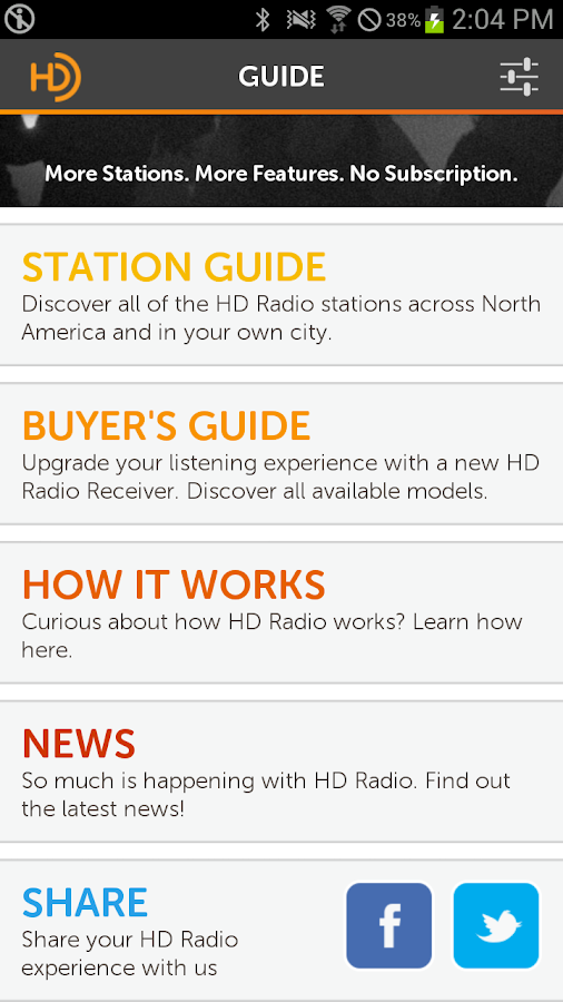 HD Radio Guide - screenshot