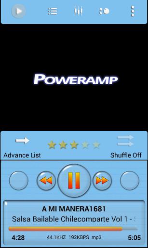 Poweramp Skin Blue Sky Minimal
