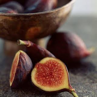 Fresh Figs with Mascarpone and Warm Spiced Honey.