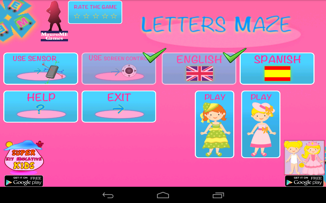 Maze of Princesses Letters - screenshot