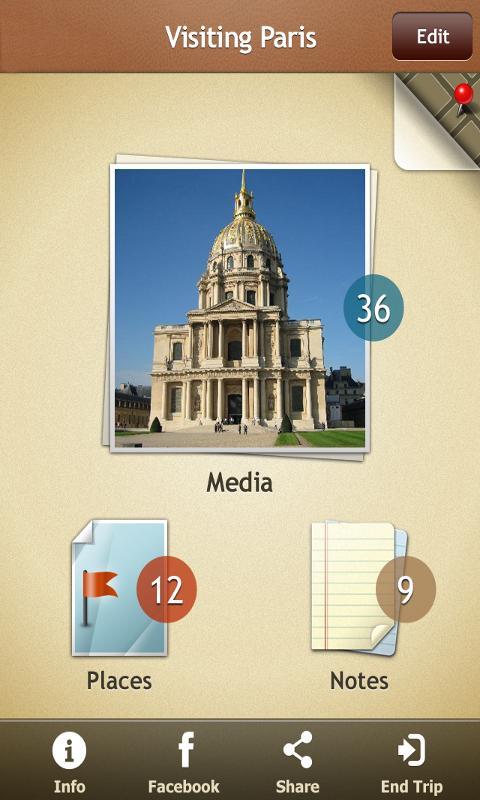 Trip Journal- screenshot