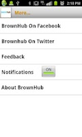 Screenshot of BrownHub.com