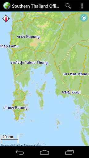 Offline Map Southern Thailand