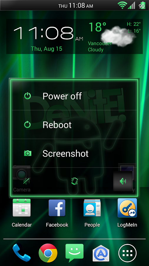Laser Green CM11/AOKP Theme - screenshot