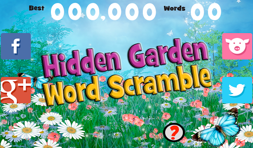 Hidden Garden Word Scramble