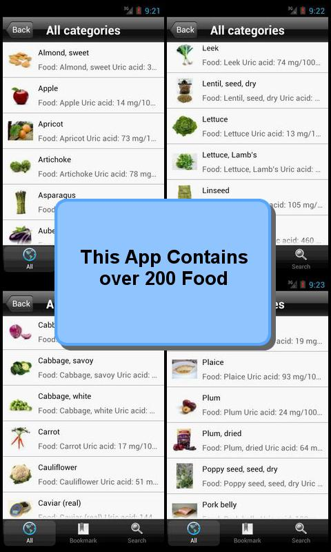 Purine and Uric Acid Food List - screenshot