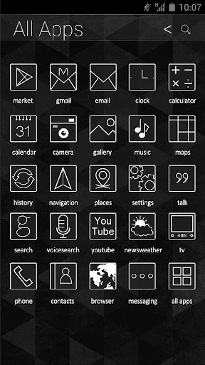 Black and White Atom Iconpack