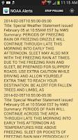 Screenshot of NOAA Alerts