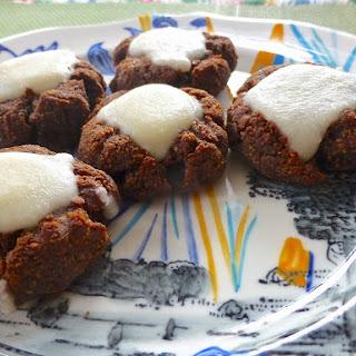 Raspberry Chocolate Drop Cookies with Coconut Icing (Paleo, SCD, Dessert)