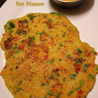 Instant Oats Uthappam – healthy low calorie and high fibre