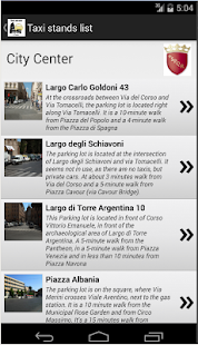 Taxi stands in Rome- screenshot thumbnail