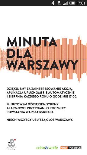 Minuta dla Warszawy